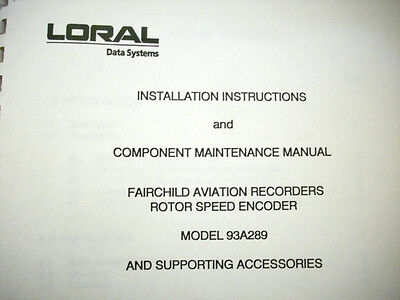 Loral Fairchild 93A289 Rotor Speed Encoder Install & Service Manual