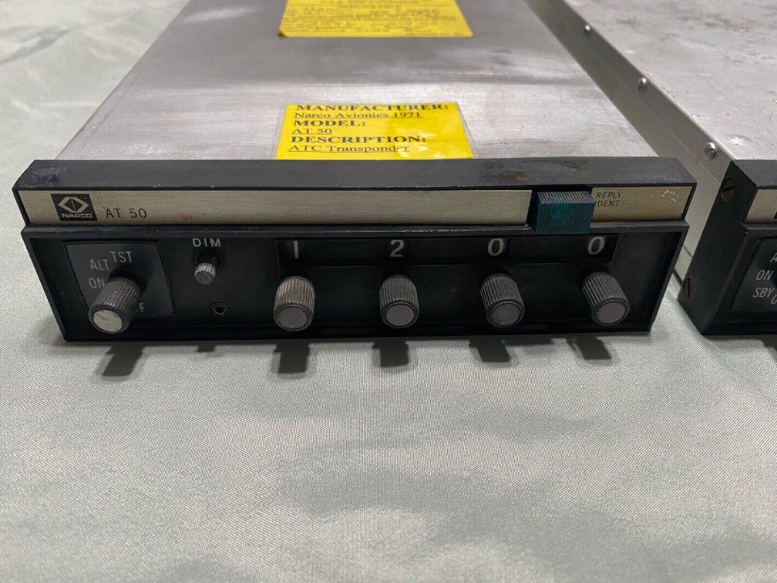Lot of 2 Narco AT-50 & AT-50A TSO Transponder.