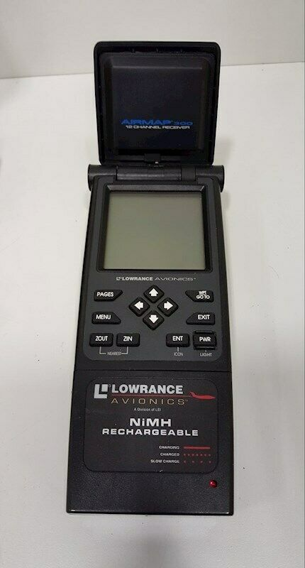 Lowrance Avionics Airmap 300 GPS Mount Avaition Plane Unit 12 Channel Receiver