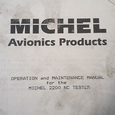 MEC Michel TKM Model 2200NC Tester Operation & Service Manual