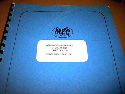 Michel MEC 720A Transponder TestSet Service Manual