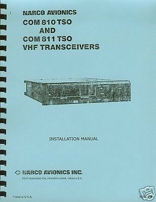 NARCO COM 810 / 811 TSO INSTALLATION MANUAL
