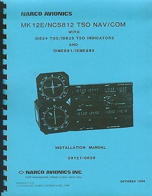 NARCO MARK 12E / NCS812 TSO INSTALLATION MANUAL