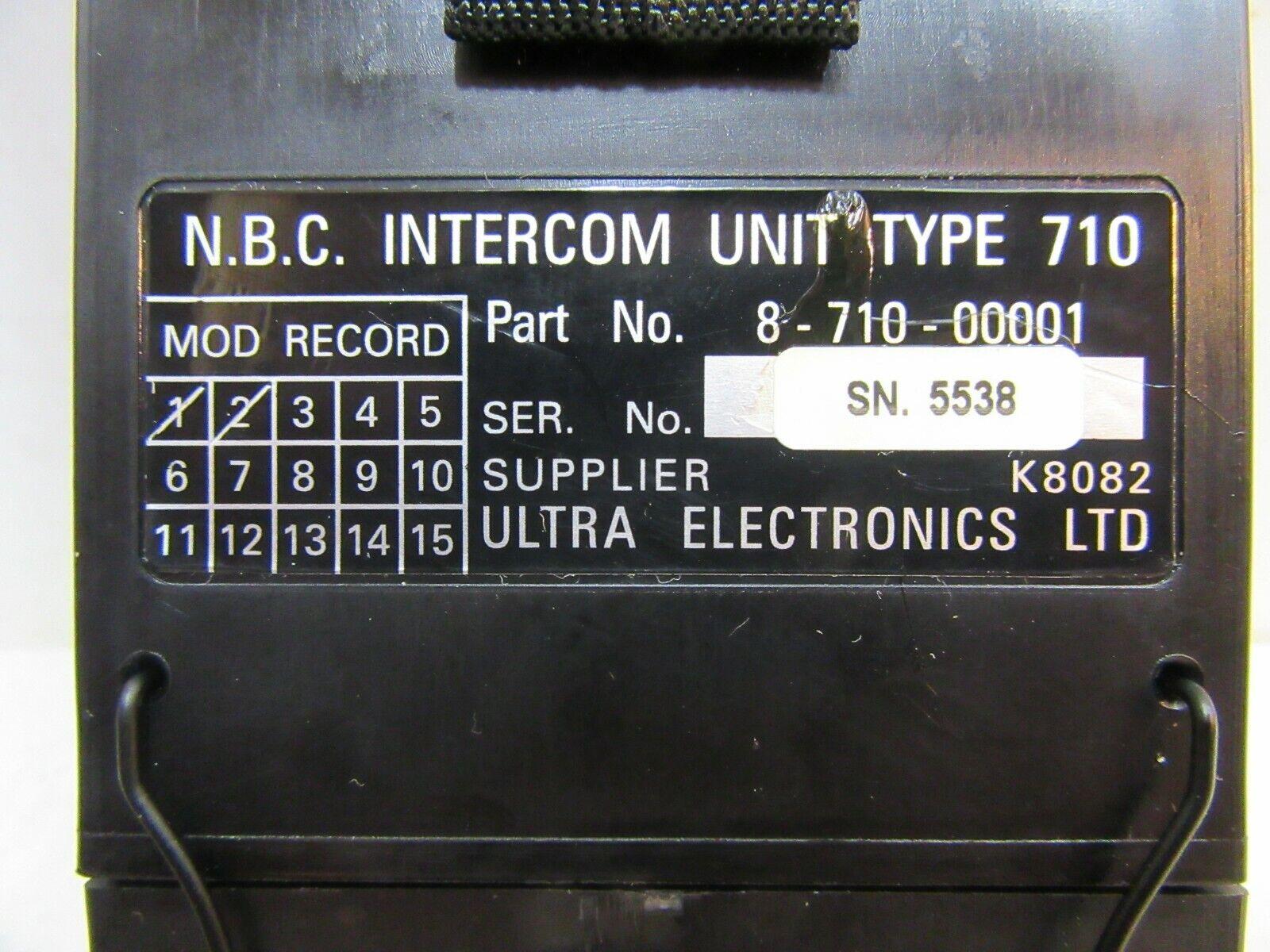 N.B.C I/C UNIT TYPE 710 USAF? RAF? AIRCRAFT HEADSET & MICROPHONE INTERCOM UNIT