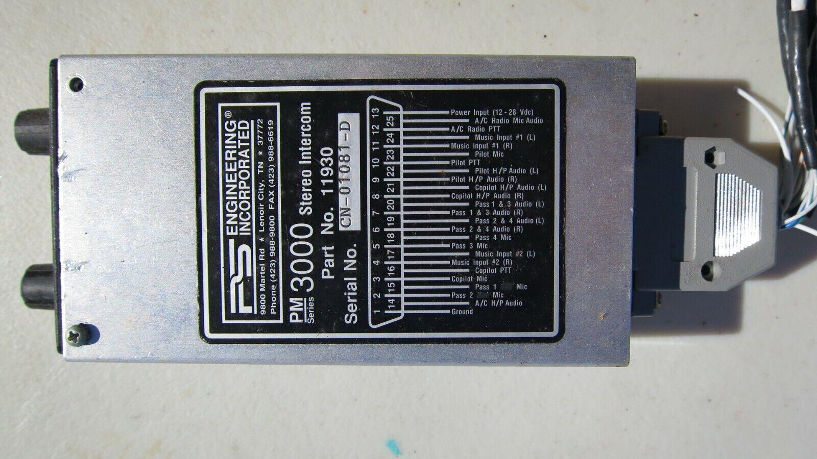 PS Engineering Inc. PM 3000 PM3000 Stereo Intercom P/N 11930