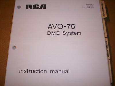 RCA AVQ 75 DME Service Manual