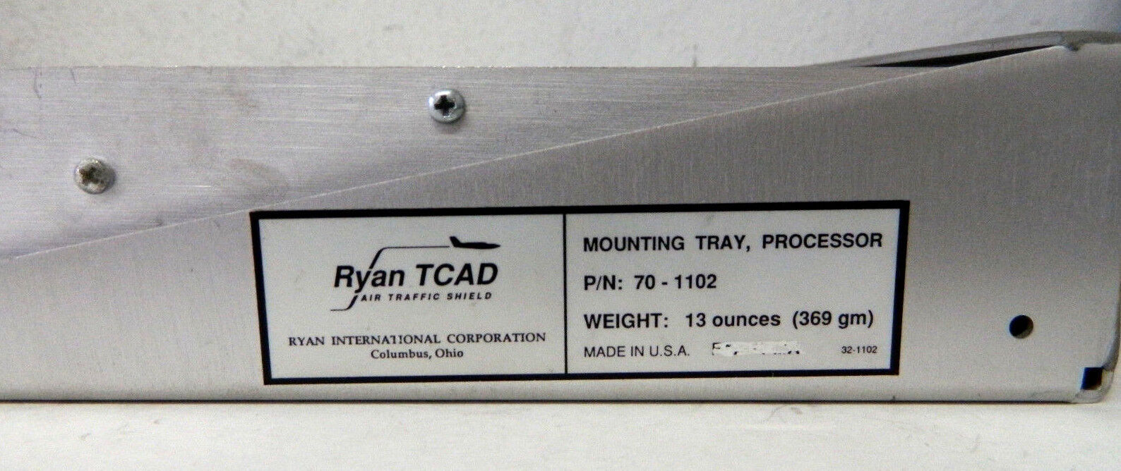 Ryan TCAD ATS-9000 Processor 70-1101 + Mounting Tray, Processor 70-1102