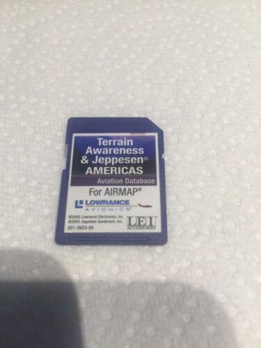 SD Card Terrain Awareness & Jeppesen Americas Aviation Database For Airmap Lowra