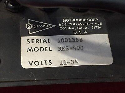 SIGTRONICS RES-400 INTERCOM 11-34 VOLTS