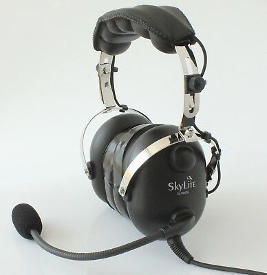 SL-900H SkyLite Aviation Helicopter Pilot Headset U174 Plug with Ear Gel + Bag