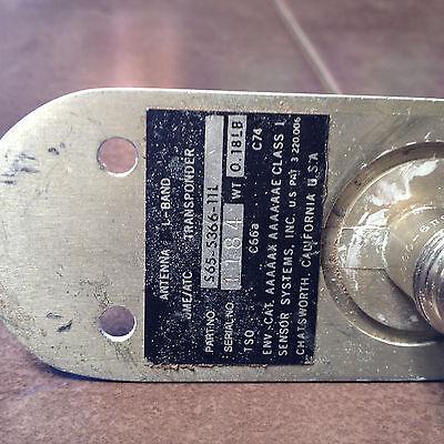 Sensor Systems L-Band Transponder - DME Blade antenna S65-5366-11L,