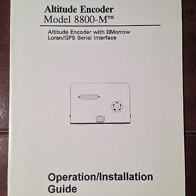 Shadin 8800-M Altitude Encoder Operation & Install Manual