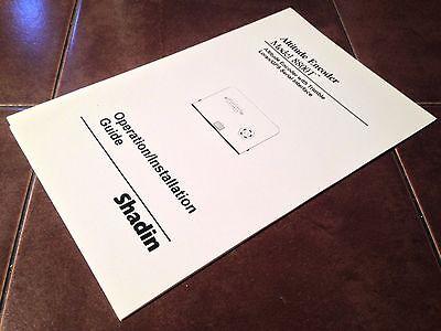 Shadin 8800T Altitude Encoder Operation & Install Manual