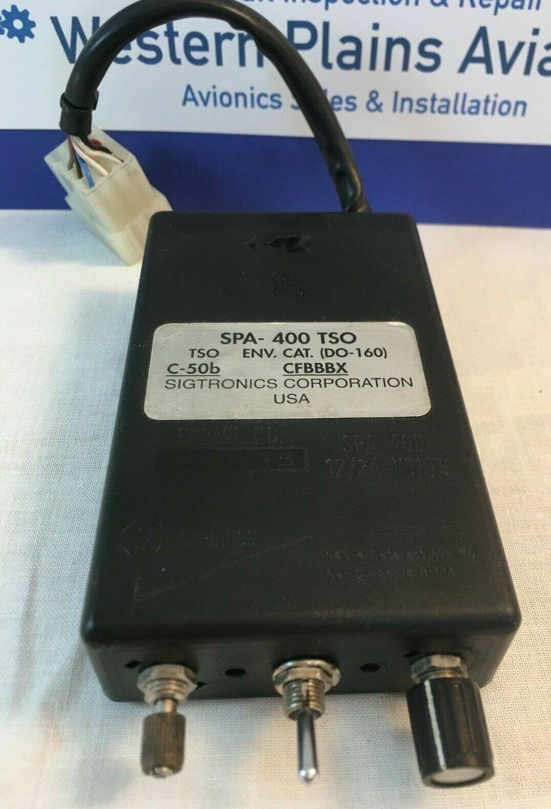 Sigtronics Corporation SPA-400 TSO Innercom
