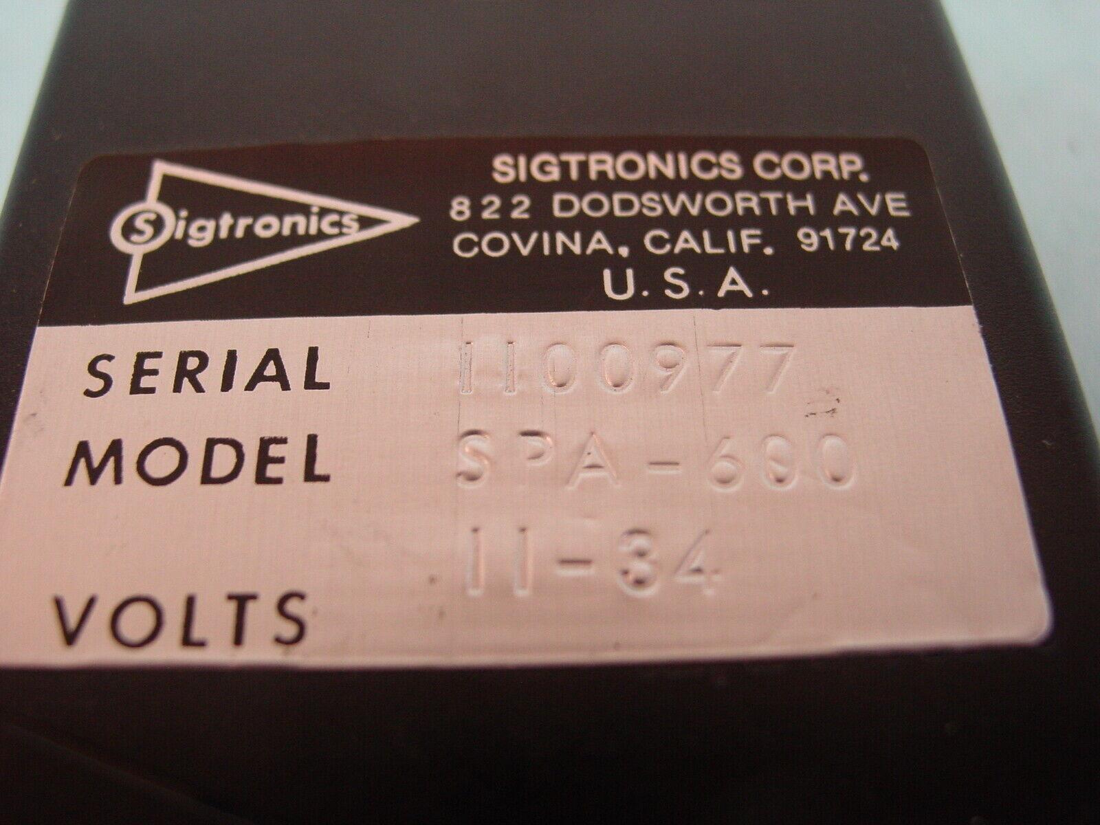 Sigtronics SPA-600 Panel Mounted Intercom (Volts: 12/24)