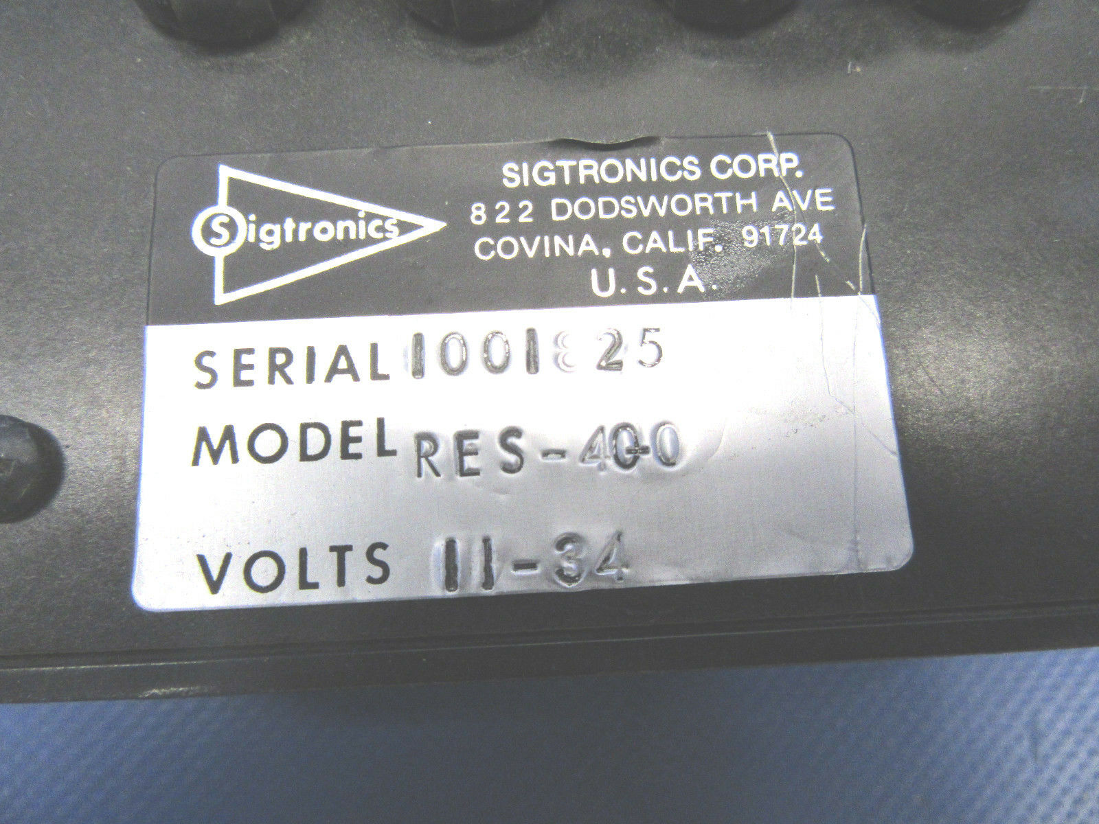 Sigtronics Stereo Switcher 11-34 Volts P/N RES-400 (0518-344)
