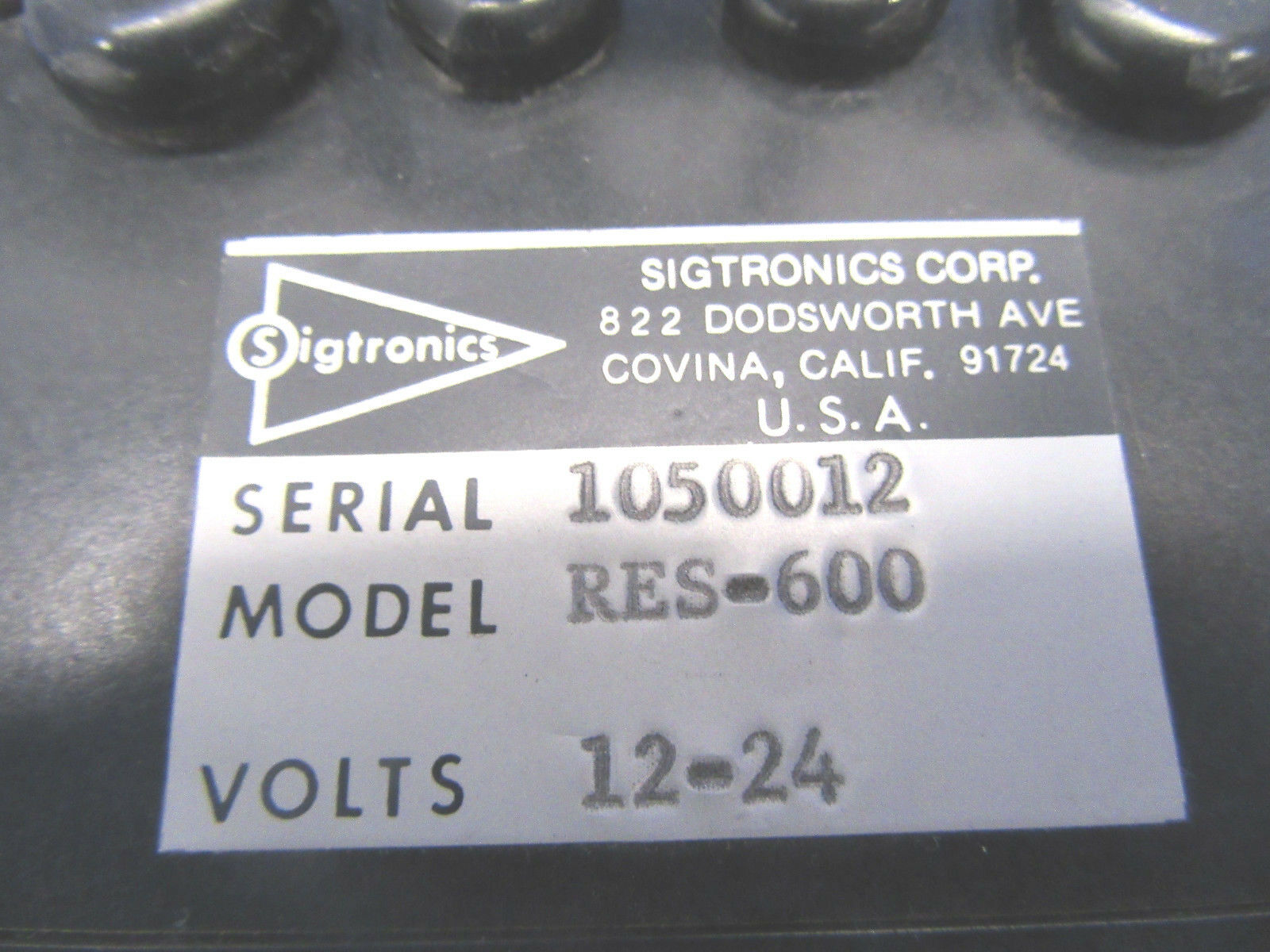 Sigtronics Stereo Switcher 12-24 Volts P/N RES-600 (0518-345)