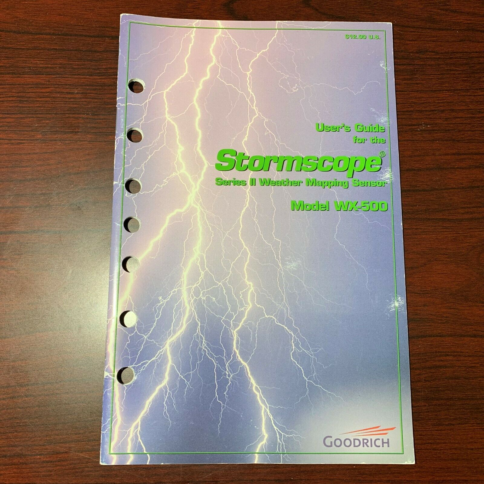 Stormscope WX-500 pilot's user guide manual 35 well-illustrated pages