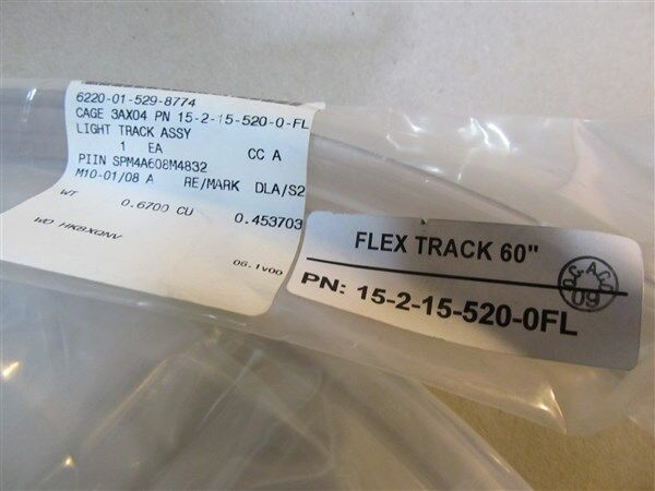 Stratus Systems Inc ADHEEL Aircraft Lighting Flex Track Part 15-2-15-520-0-FL