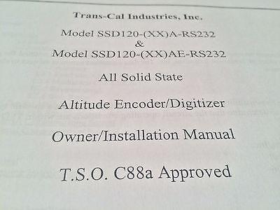 Trans-Cal Encoder SSD120-(XX)A/AE-RS232 Install Manual