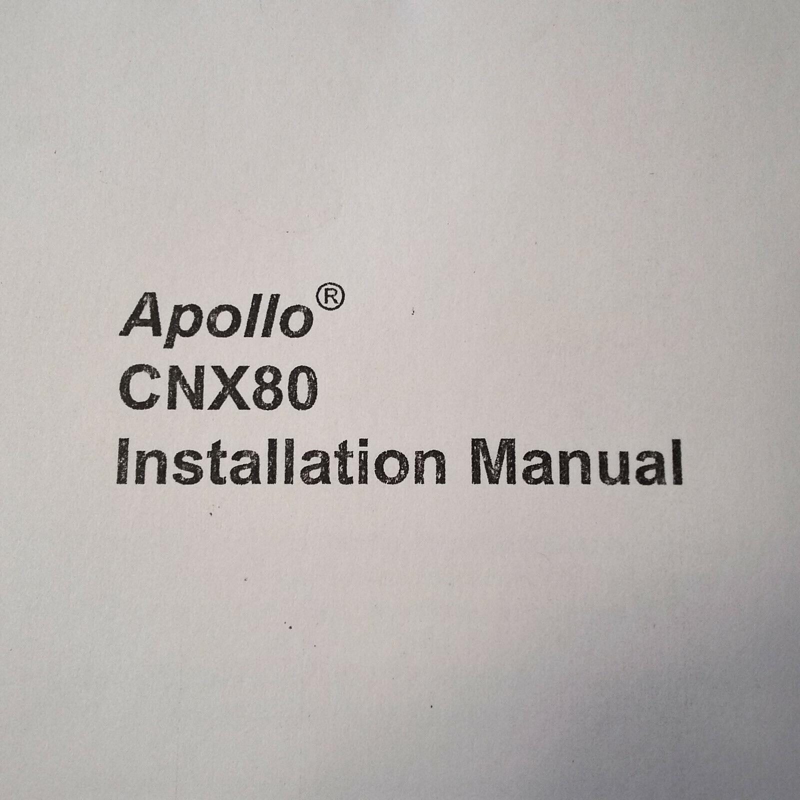 UPS Apollo CNX 80 Install Manual