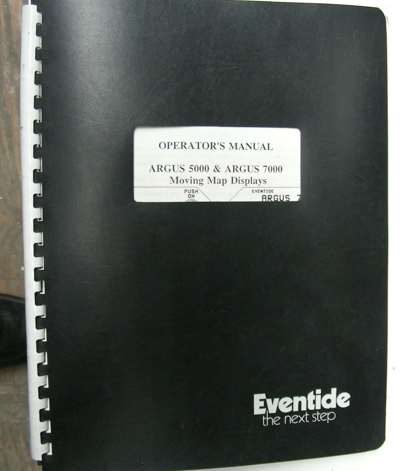 USED Eventide Argus 5000 P/N 5000-10-15 moving map with mounting tray
