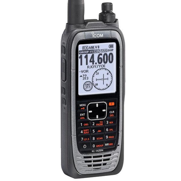 VHF AIRBAND HANDHELD NAVIGATION TRANSCEIVER w/ GPS Bluetooth by iCom p/n IC-A25N