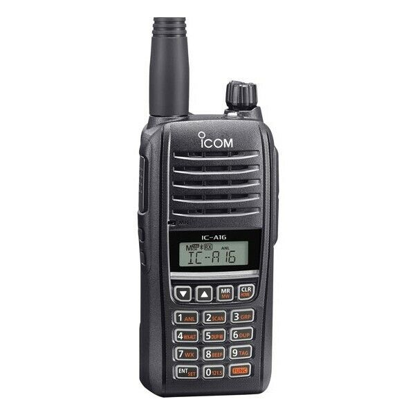 iCom VHF AIR BAND HANDHELD TRANSCEIVER, COMM ONLY  p/n IC-A16