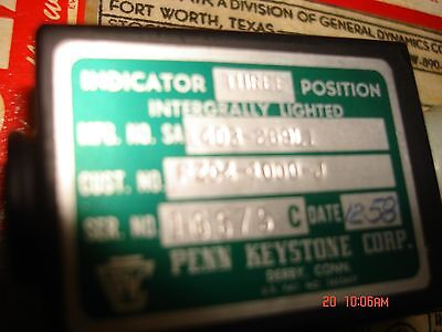 vintage aircraft keystone three position indicator p/n 1403-269L1 2 per lot