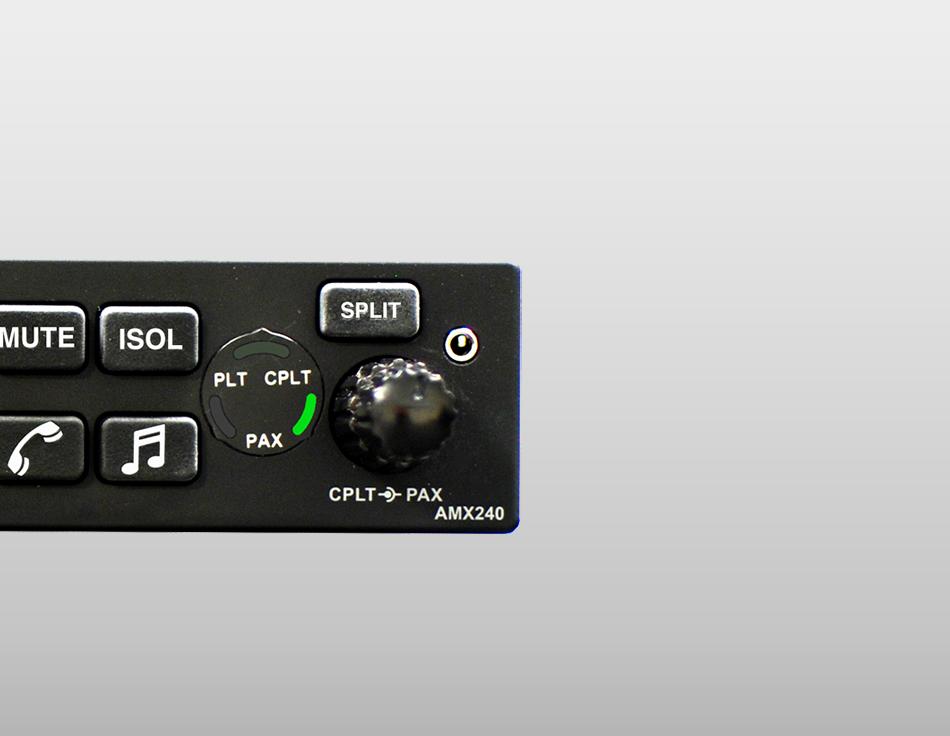 AVIDYNE AMX240 Audio Panel PN: 850-00218-001 NE