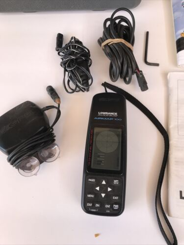 Airmap 100 Lowrance Avionics aircraft portable GPS system with accessories