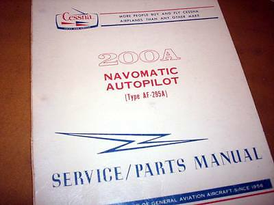 Cessna ARC 200A Navomatic AF-295A Service manual