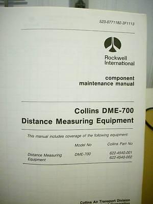 Collins DME 700 Component Maintenance Manual