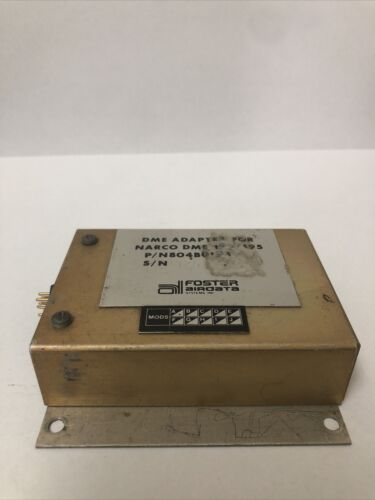 DME Adapter For Narco DME 190/195. Unknown Working Condition.