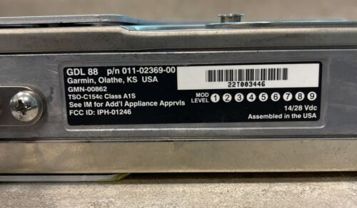 Garmin GDL-88 ADS-B In/Out Transceiver 011-02369-00 yellow tagged