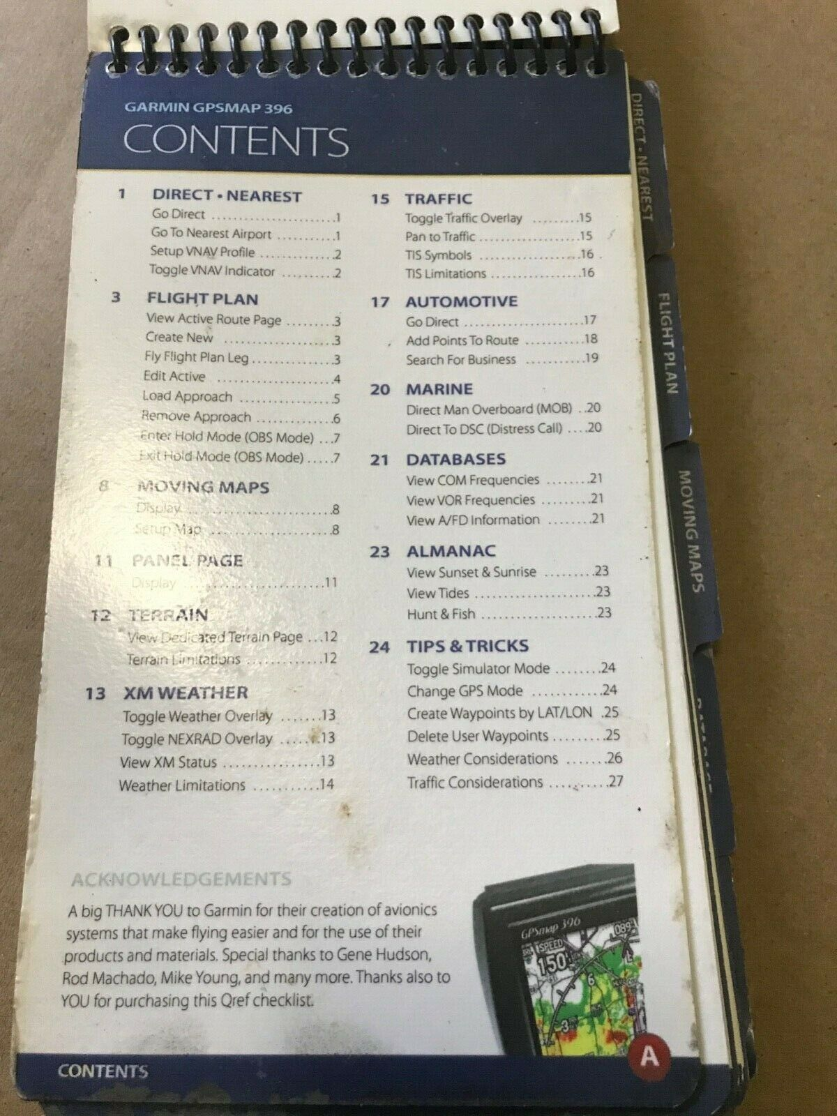 Garmin GPSMAP 396 Quick Reference Guide