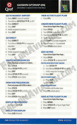 Garmin GPSMAP 696/695 Quick Reference Checklist Card by Qref