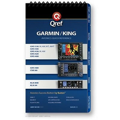 Garmin/King Combo 530/430/480/CNX 80 & KLN 94/89B Checklist Book by Qref