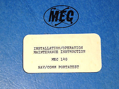 Michel MEC 140 Nav/Com PortaTest Operation Maintenance Manual