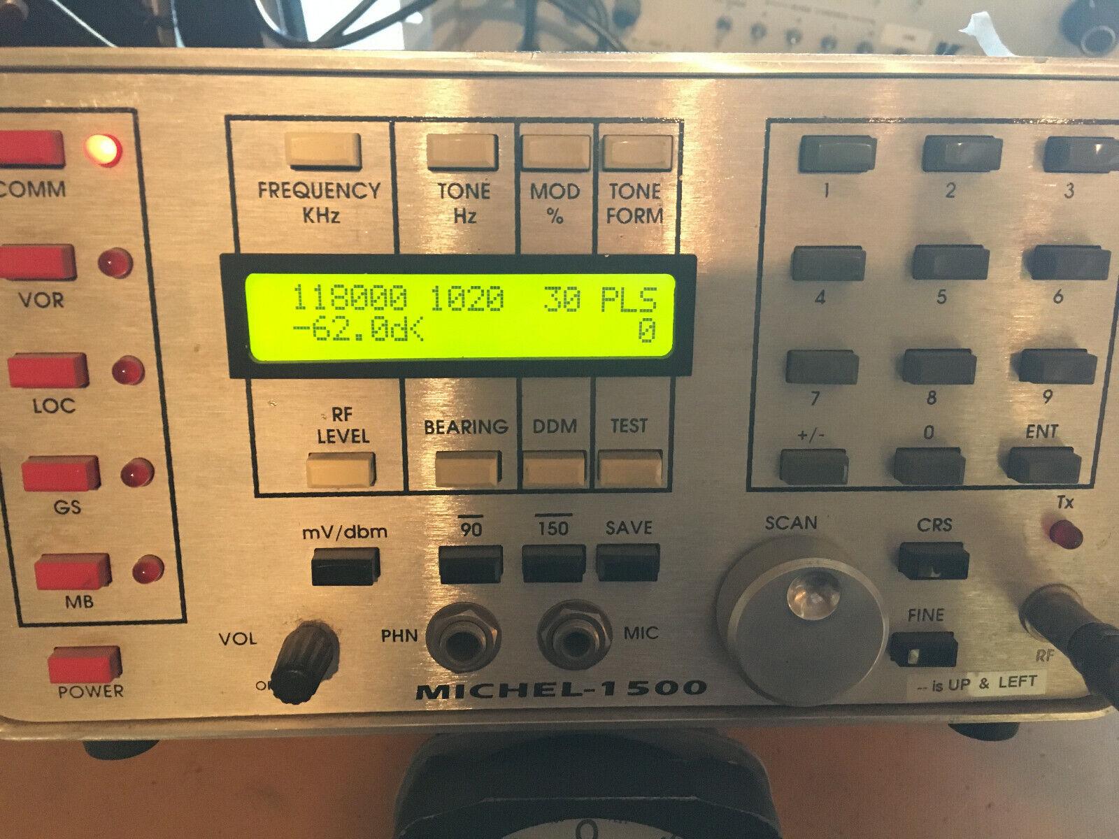 Michel MEC-1500 Nav Com ILS & MB Bench or Ramp Signal Generator