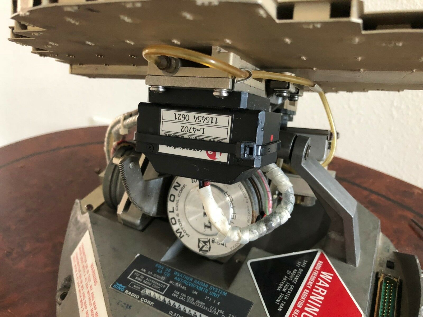 NARCO /KING  KWX 56 P/N 071-1220-02 10 INCH RADAR WITH  FAA 8130-3