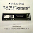 Narco AT165 TSO  (KT-76A replacement)  install Manual