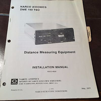 Narco DME 190 Install Manual