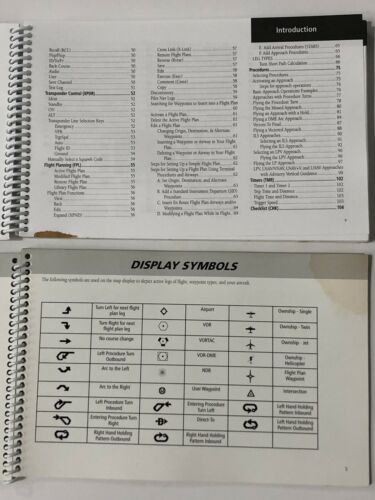 Pair of Garmin GNS 480 Manuals— Pilot's Guide & Quick Reference Manual